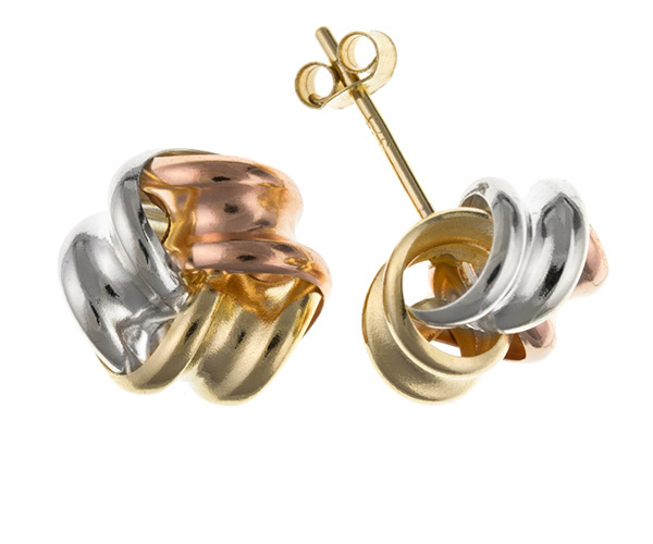 Planet Gold - Gold Earrings - Multi Coloured