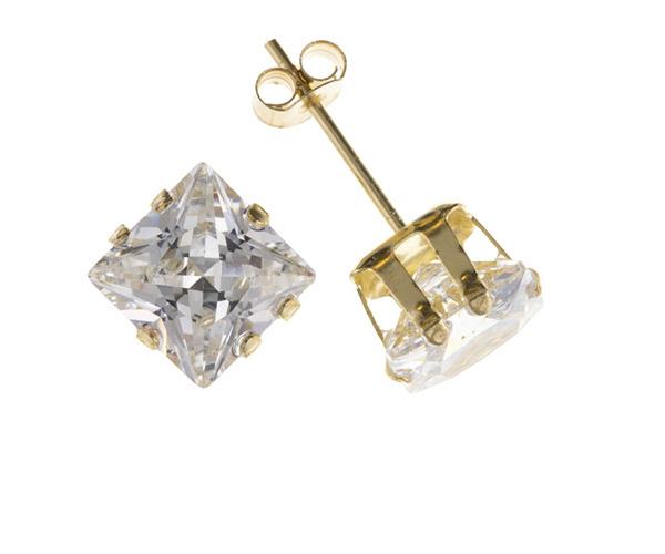 Planet Gold - Gold Earrings - Cubic Zirconia