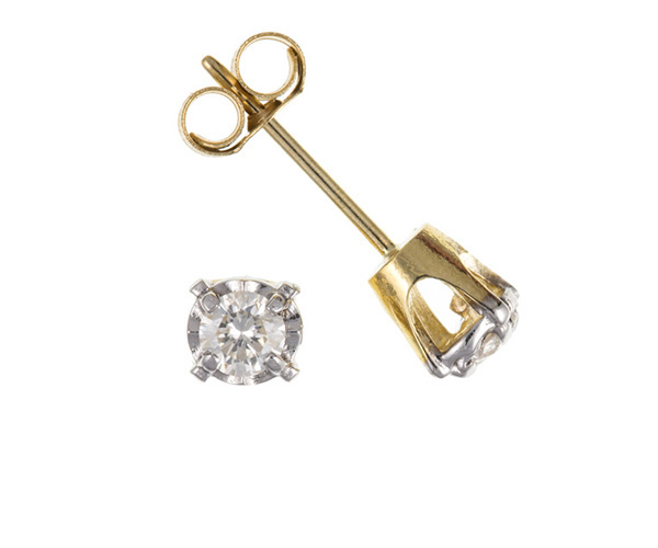 Planet Gold - Gold Earrings - Diamond