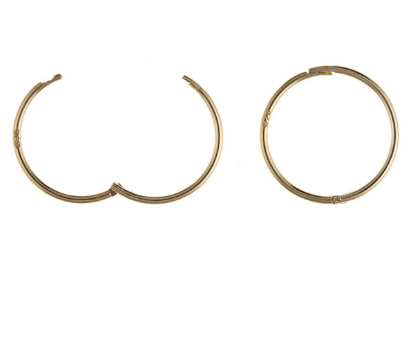 Planet Gold - Gold Earrings - Hinged Sleeper