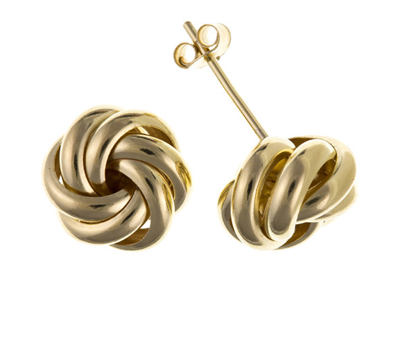 Planet Gold - Gold Earrings - Knot