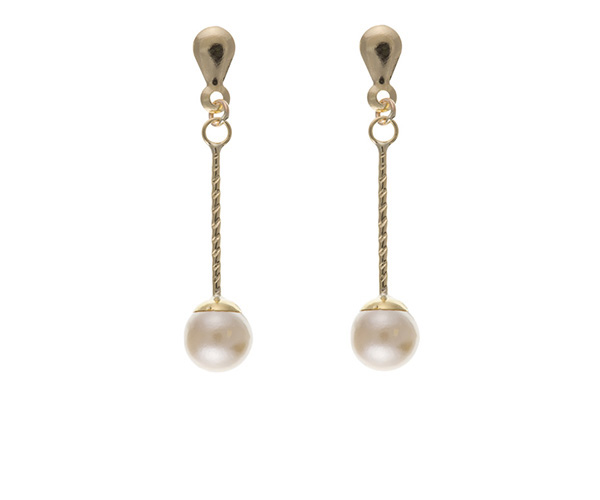 Planet Gold - Gold Earrings - Pearl