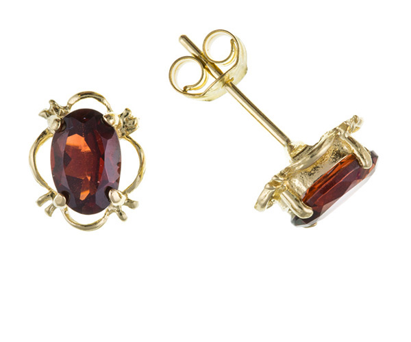 Planet Gold - Gold Earrings - Real Stone