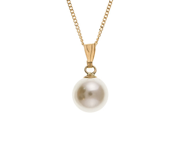 Planet Gold - Gold Pendant - Pearl