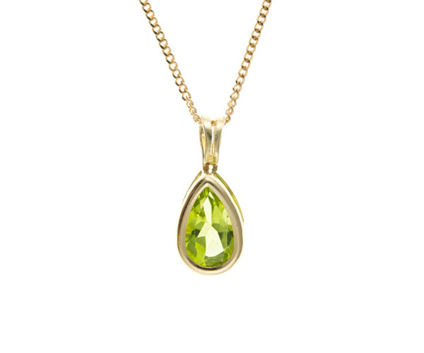 Planet Gold - Gold Pendant - Real Stone