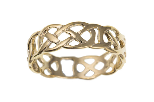 Planet Gold - Gold Celtic Ring