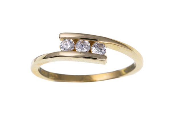 Planet Gold - Gold Ring - Cubic Zirconia