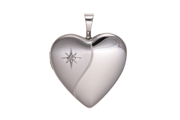 Planet Gold - Silver Locket - Contemporary