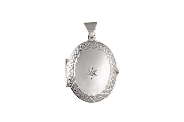 Planet Gold - Silver Locket - Diamond