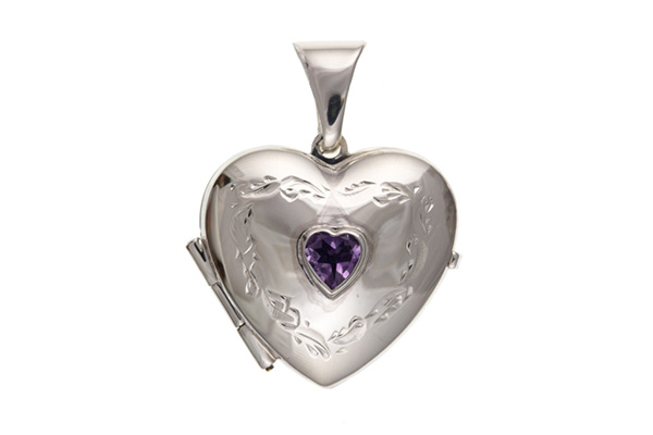 Planet Gold - Silver Locket - Real Stone