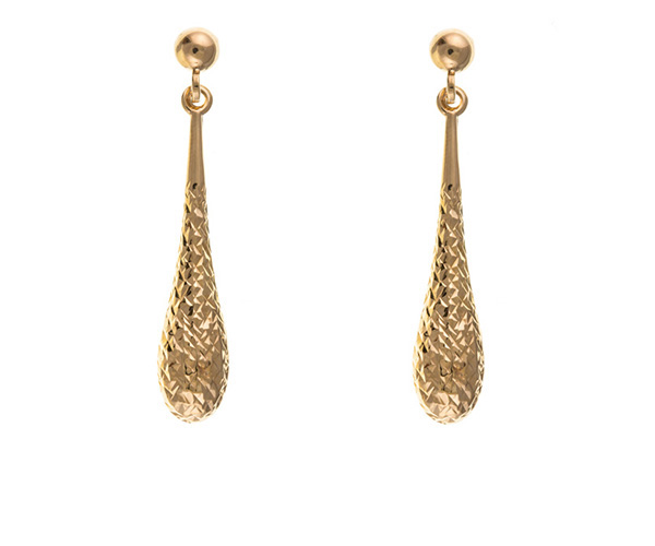 Brand new Gold Earrings - Red Gold - Planet Gold PM84